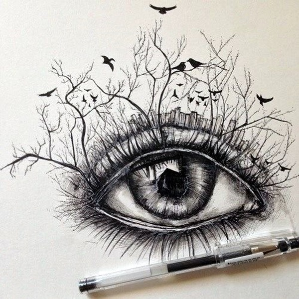 Beautiful Nature Pencil Drawings: Just Some Amazing Hipster Drawing Ideas (40 Of It)
