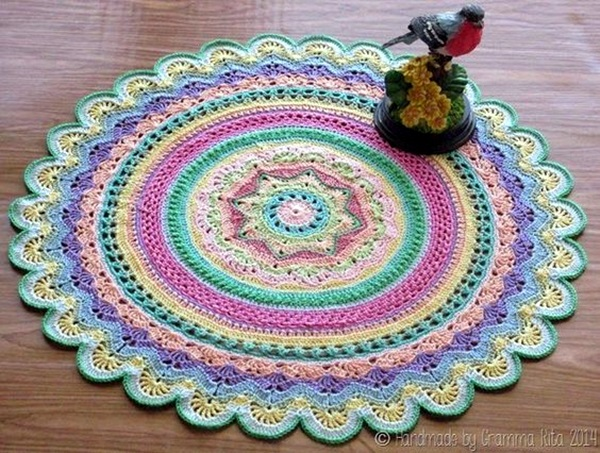 Crochet Doily Patterns Free For Beginners : 40 Pretty and Easy Crochet Doily for Beginners - Bored Art
