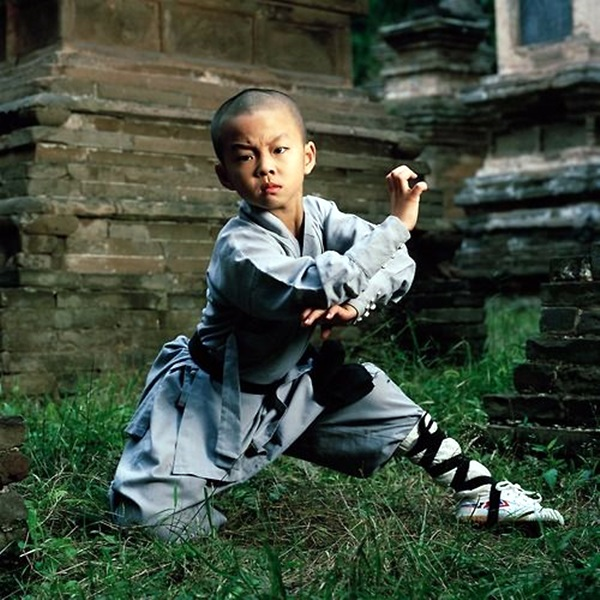 Hao Han (8) 郝永强 Shaolin kung fu student and child actor Shaolin Monastery, Henan