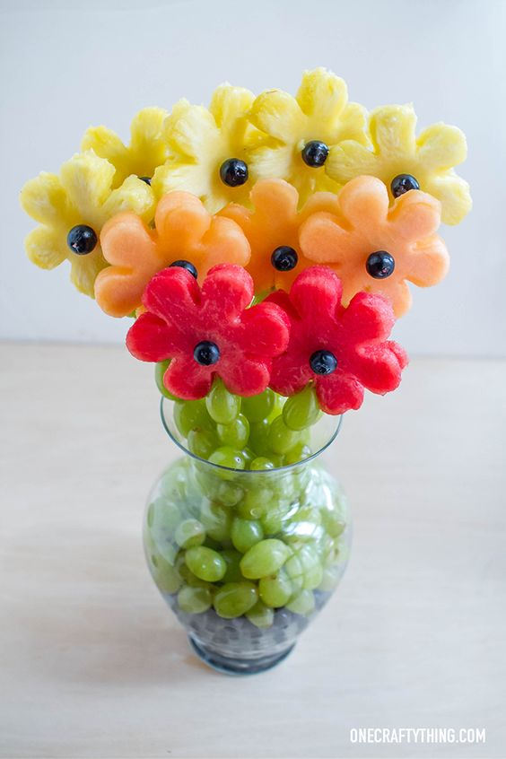 Fragrant and fabulous fruit arrangement ideas bored art Floral arrangements with fruit
