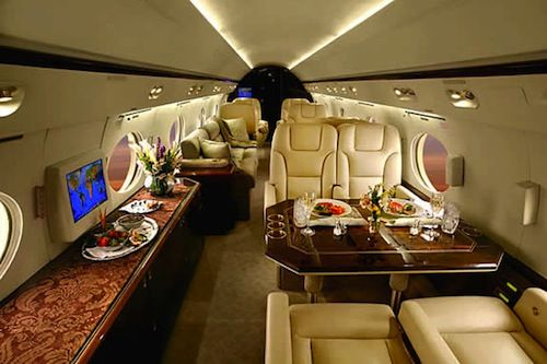 private jet interior 10