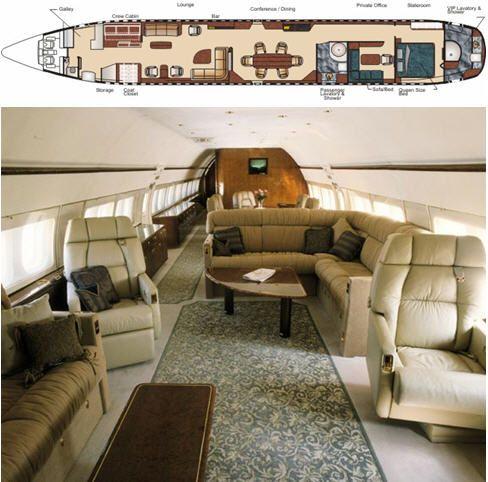 Opulent And Plush Private Jet Interiors  Bored Art