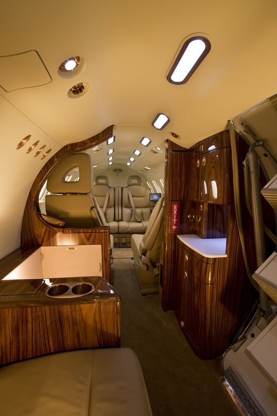 Opulent And Plush Private Jet Interiors - Bored Art