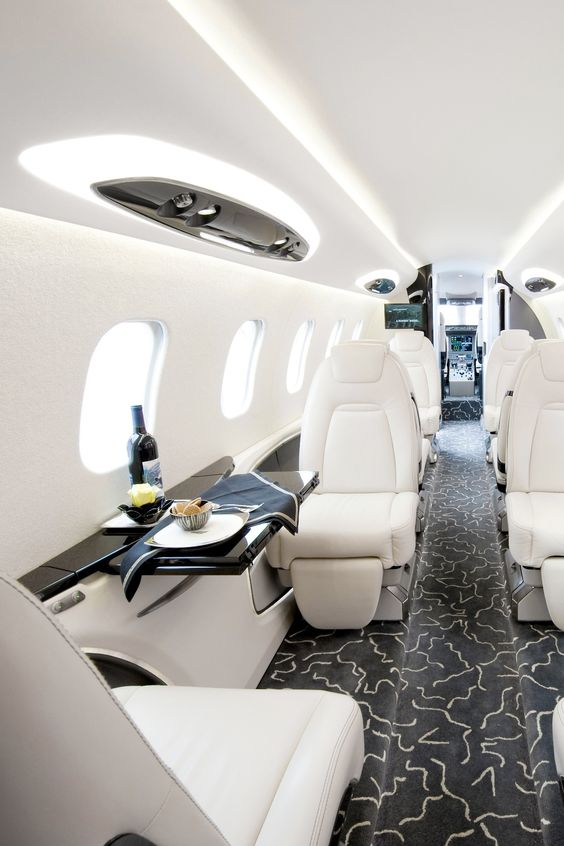 Opulent And Plush Private Jet Interiors  Bored Art