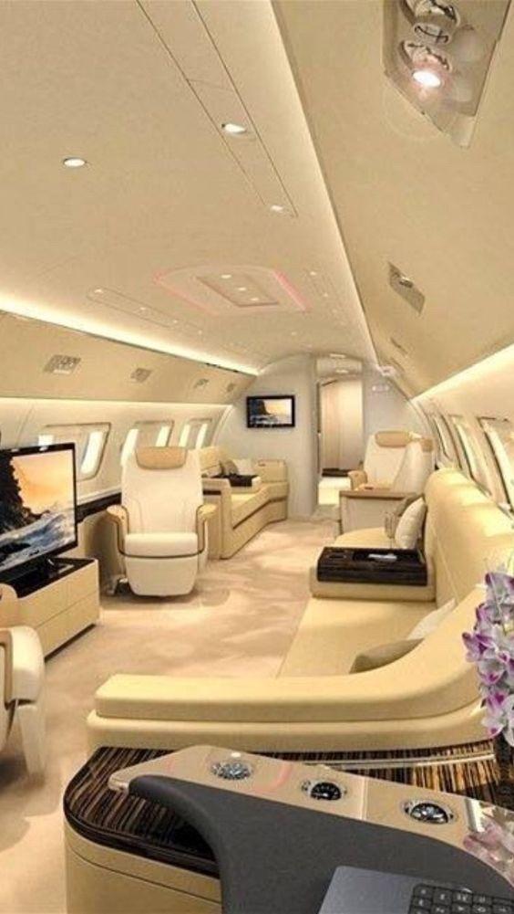 Luxury private jets interior