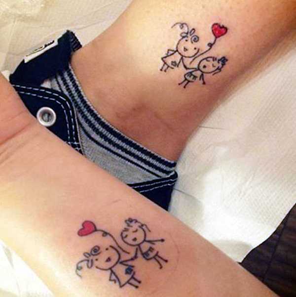 Adorable Sisters Forever Tattoo Design Ideas (20)
