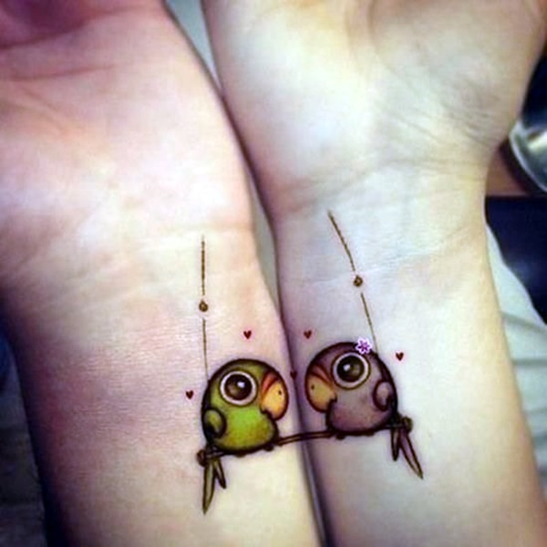 Adorable Sisters Forever Tattoo Design Ideas (35)
