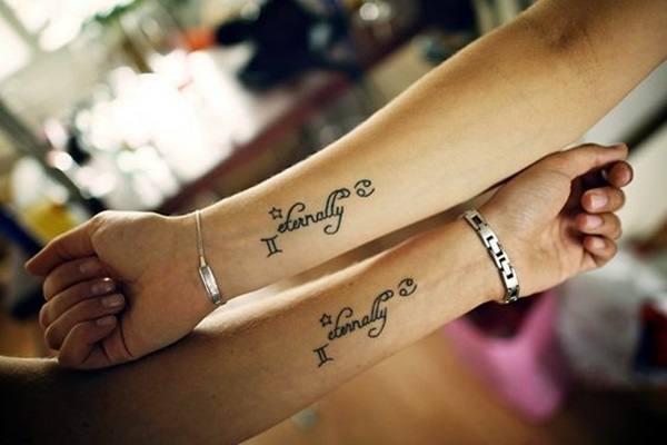 Adorable Sisters Forever Tattoo Design Ideas (42)