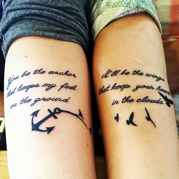 Adorable Sisters Forever Tattoo Design Ideas (6)