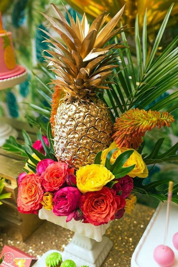 Affordable and Creative Hawaiian party decoration Ideas (29)