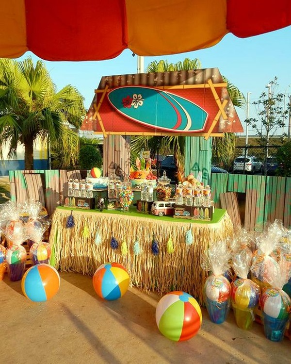 40 affordable and creative hawaiian party decoration ideas for Affordable pools and supplies