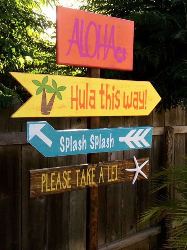 Affordable and Creative Hawaiian party decoration Ideas (35)