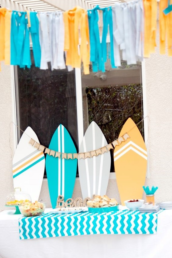 Affordable and Creative Hawaiian party decoration Ideas (37)