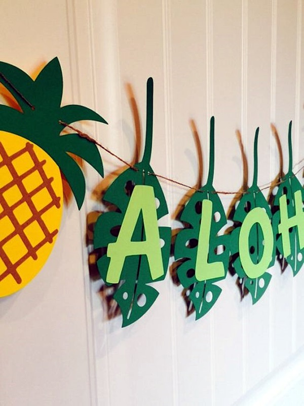 Affordable and Creative Hawaiian party decoration Ideas (38)