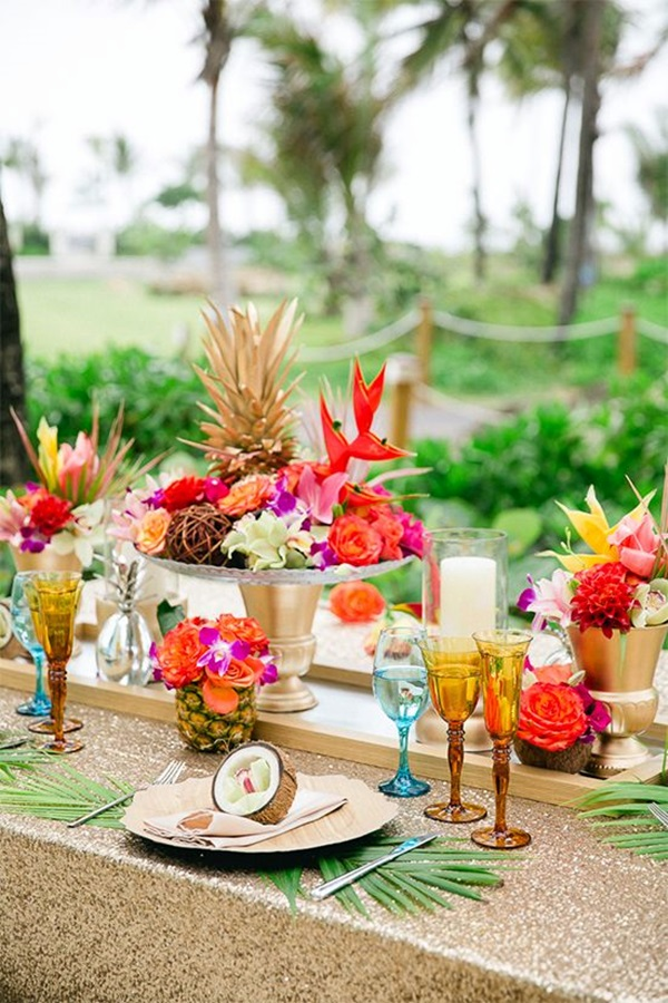 40 affordable and creative hawaiian party decoration ideas for Affordable wedding decoration