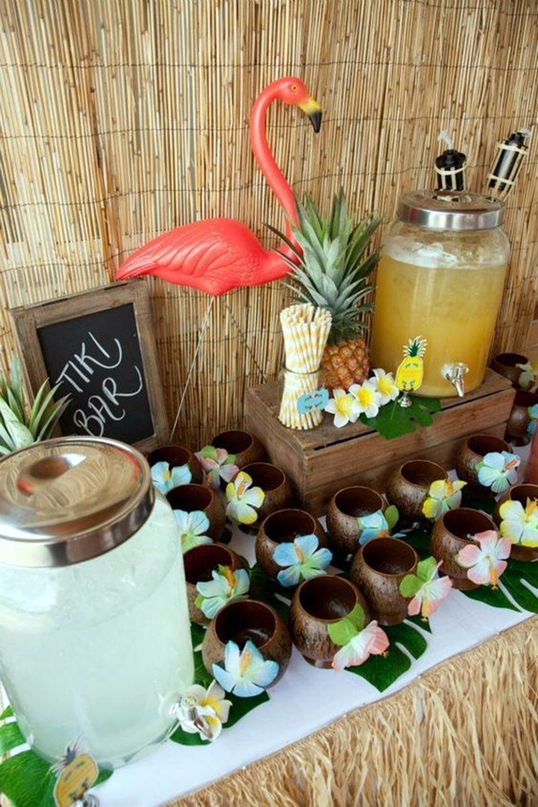 Affordable and Creative Hawaiian party decoration Ideas (43)