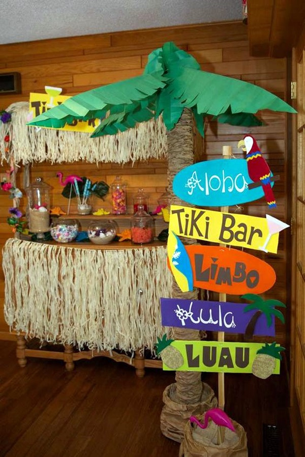 Affordable and Creative Hawaiian party decoration Ideas (47)