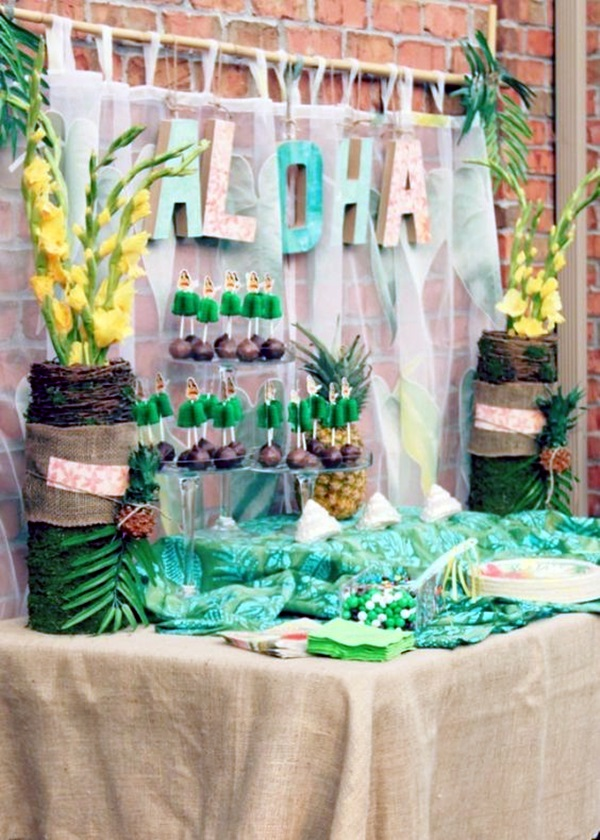 Affordable and Creative Hawaiian party decoration Ideas (9)