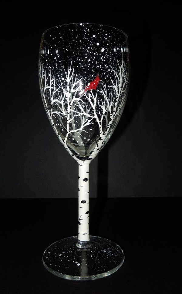 40 artistic wine glass painting ideas bored art for Paint vino