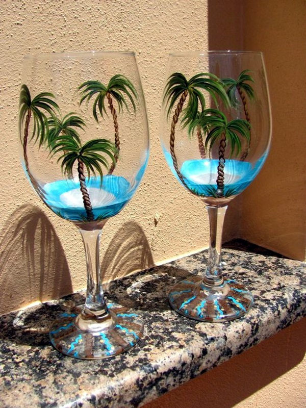 artistic wine glass painting ideas 26 - Wine Glass Design Ideas