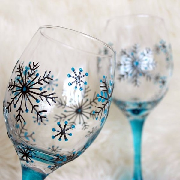 artistic wine glass painting ideas 7 - Wine Glass Design Ideas