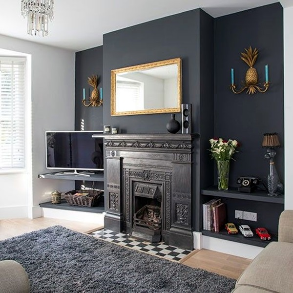 40 grey living room ideas to adapt in 2016 bored art - Grey and black living room pictures ...