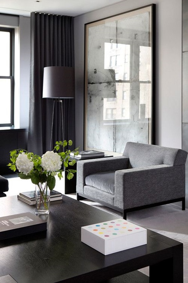 Grey Living Room Ideas to Adapt (27)