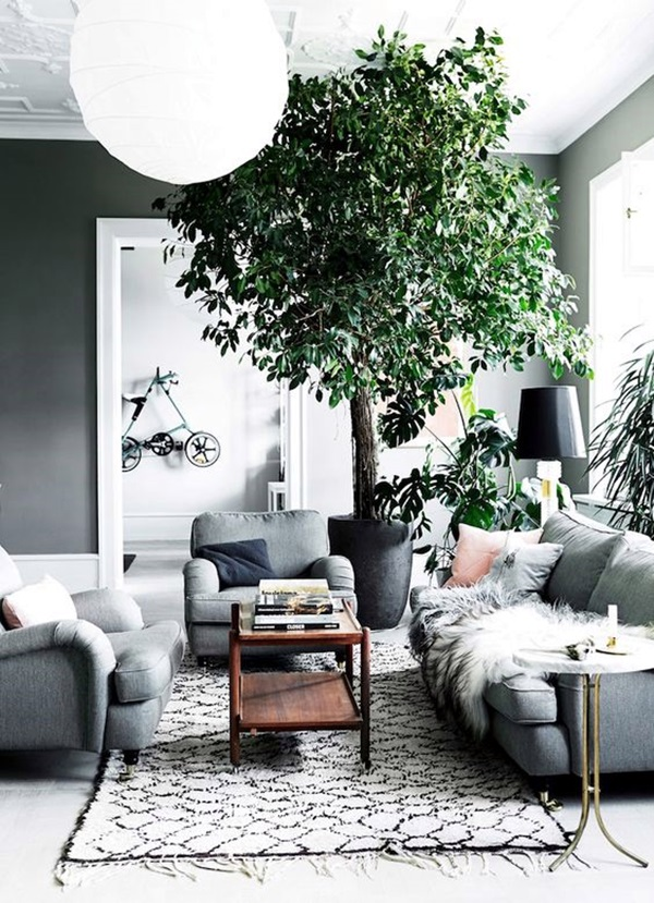 Grey Living Room Ideas to Adapt (30)