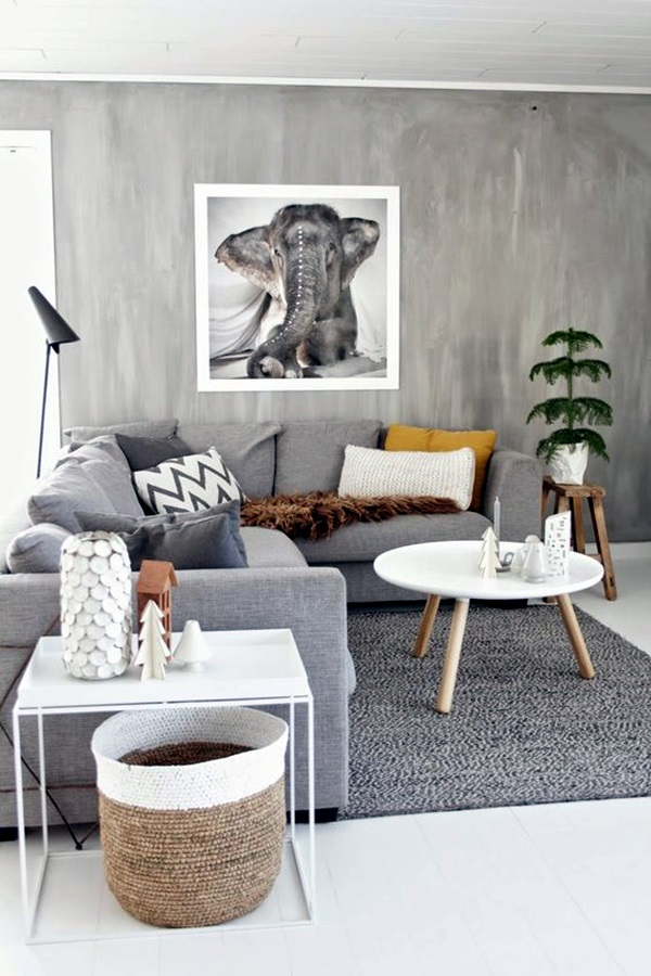 Grey Living Room Ideas to Adapt (31)