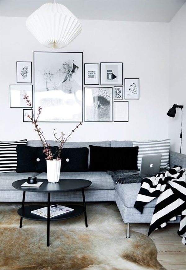 Grey Living Room Ideas to Adapt (35)
