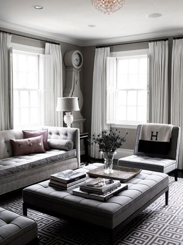 40 grey living room ideas to adapt in 2016 bored art - Adorable iconic furniture design adapts black and white color ...