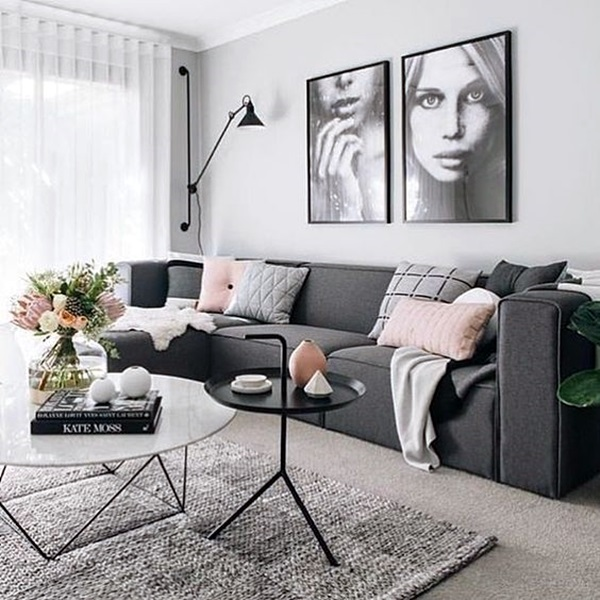 Grey Living Room Ideas to Adapt (40)