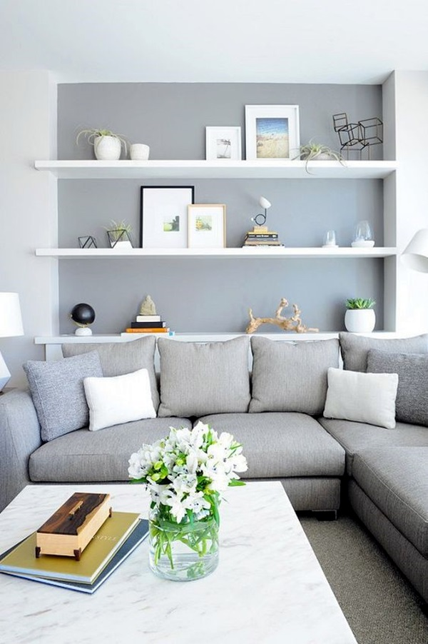 40 grey living room ideas to adapt in 2016 bored art for Grey living room inspiration