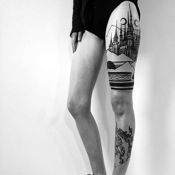 New and Trendy Dotwork Tattoo Ideas for 2016 (34)