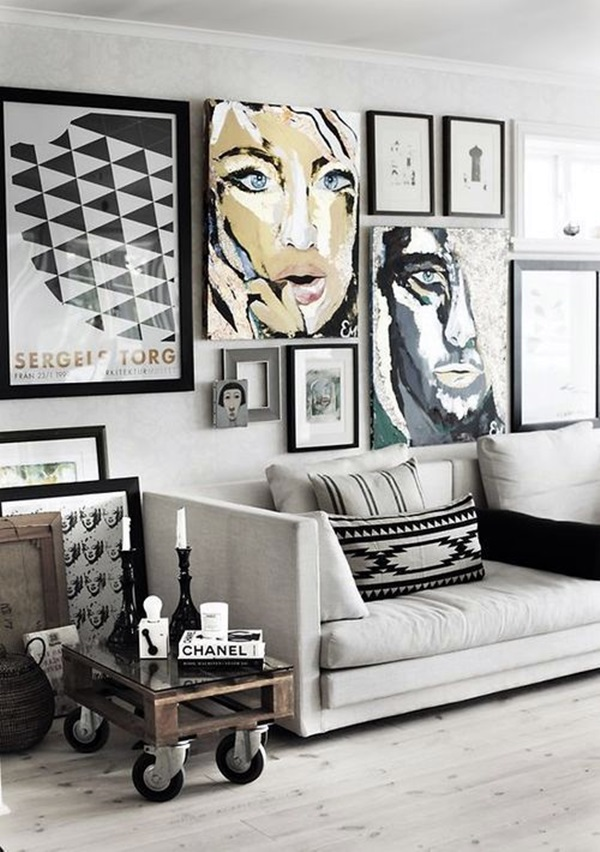 Simple but Fashionable Living Room Wall Decoration Ideas (15)