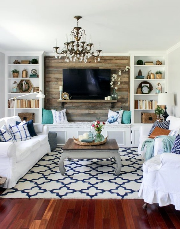 Simple but Fashionable Living Room Wall Decoration Ideas (24)