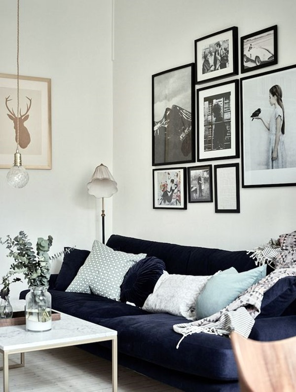 40 Simple But Fashionable Living Room Wall Decoration ...
