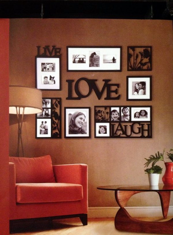 40 simple but fashionable living room wall decoration - Family room wall decor ideas ...