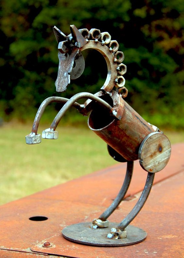Utterly beautiful rusted metal art works bored