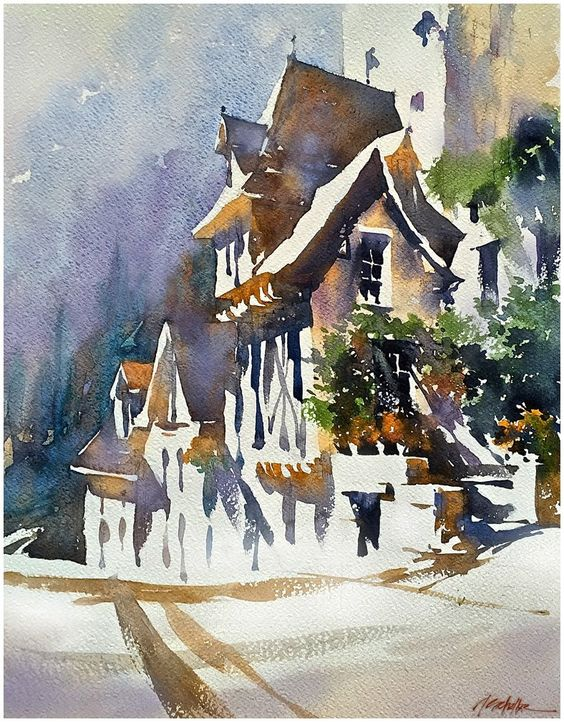 architectural water colors 24