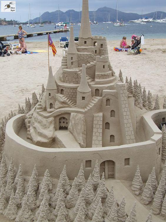 making a sand castle