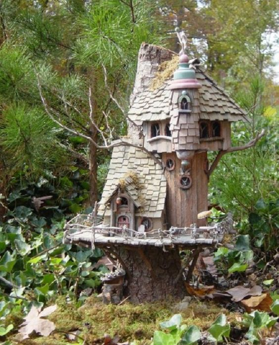 how to build a miniature tree house