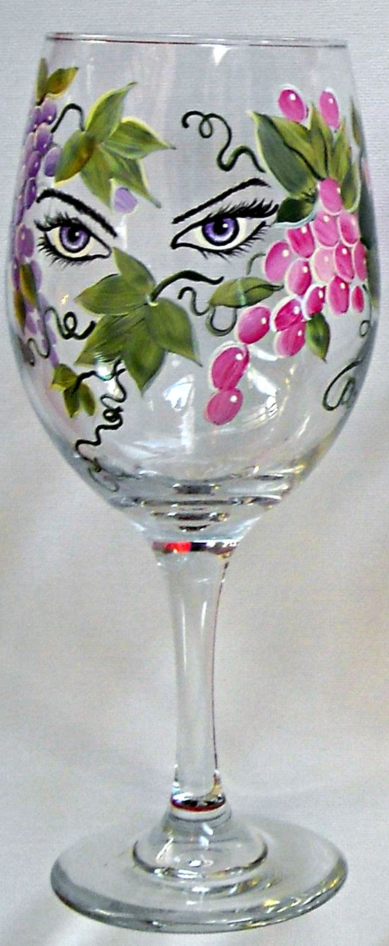 Vitally wonderful wine glass designs to make you smile for Homemade glass painting designs