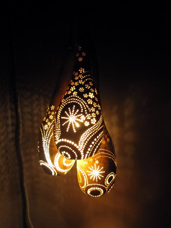 Amazing Art Inspired Gourd Lamps (11)