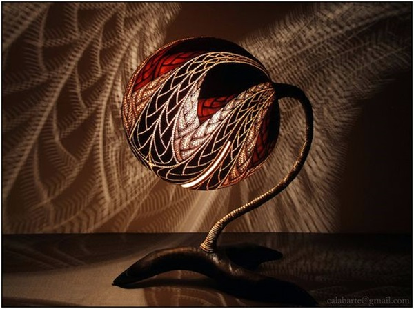 Amazing Art Inspired Gourd Lamps (21)