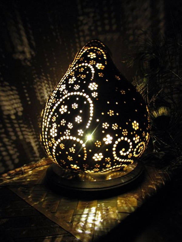 Amazing Art Inspired Gourd Lamps (22)