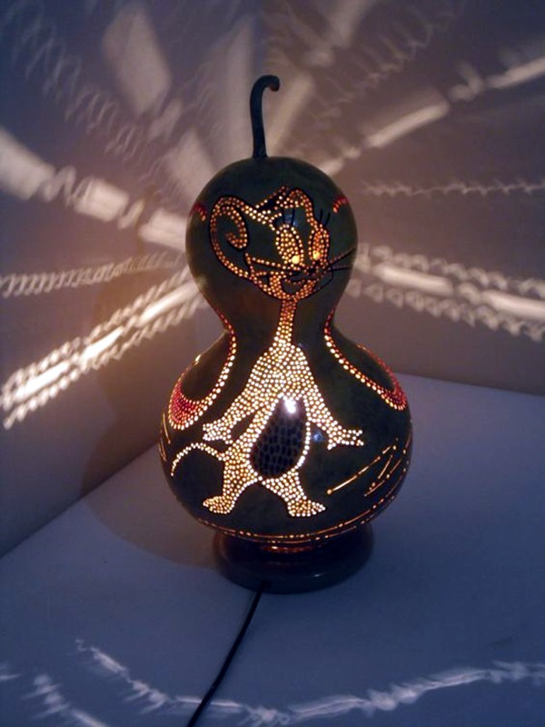 Amazing Art Inspired Gourd Lamps (45)