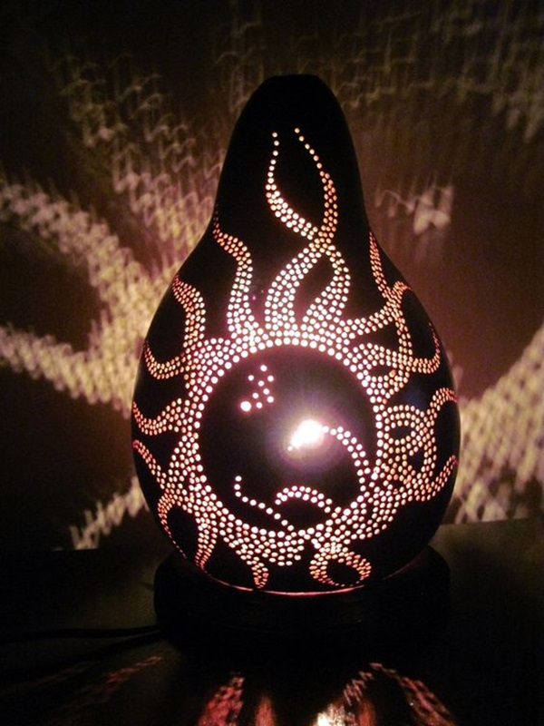 Amazing Art Inspired Gourd Lamps (6)