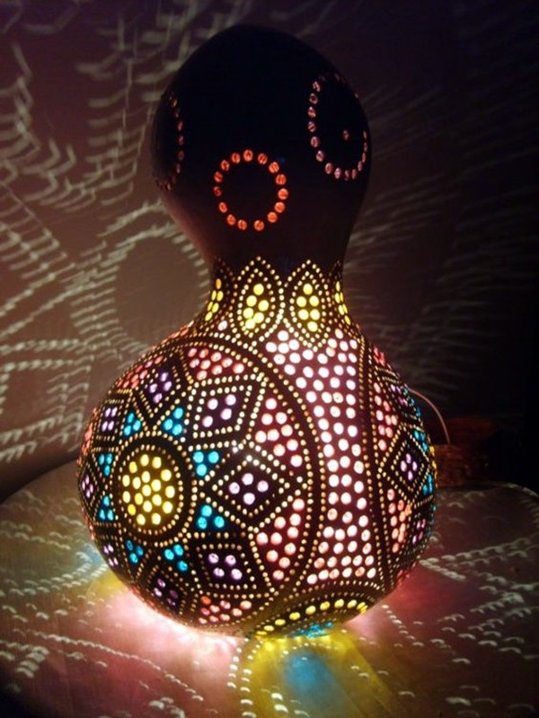 40 amazing art inspired gourd lamps