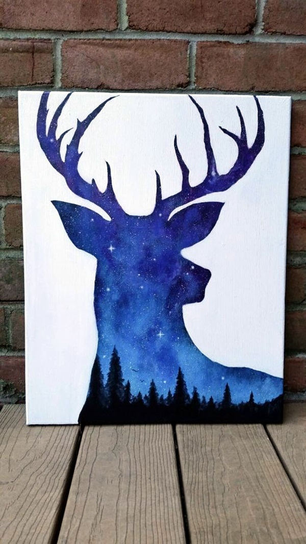 40 Awesome Canvas Painting Ideas For Kids: 40 Amazing Silhouettes Art For Inspiration